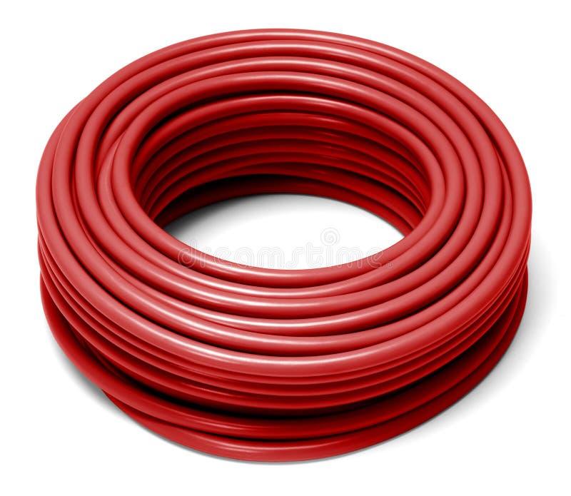 滚动的红色缆绳 图库摄影
