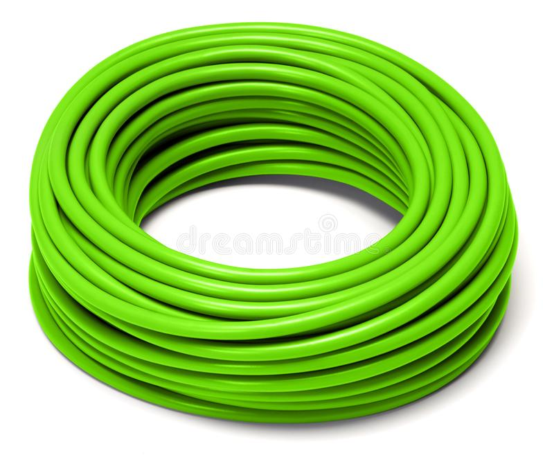 滚动的绿色缆绳 免版税库存照片
