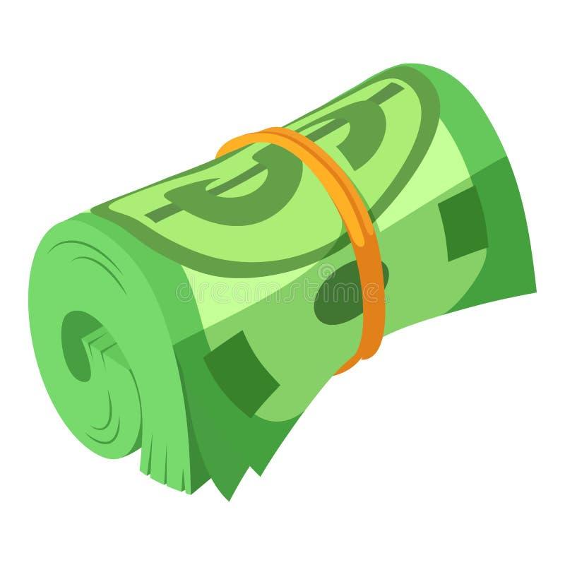 滚动的美元象,等量样式 皇族释放例证