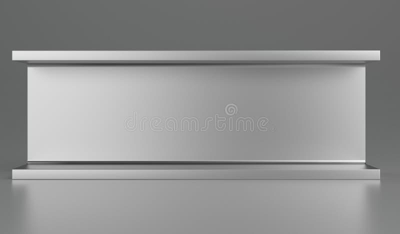 滚动的金属制品或钢产品 3d翻译 向量例证