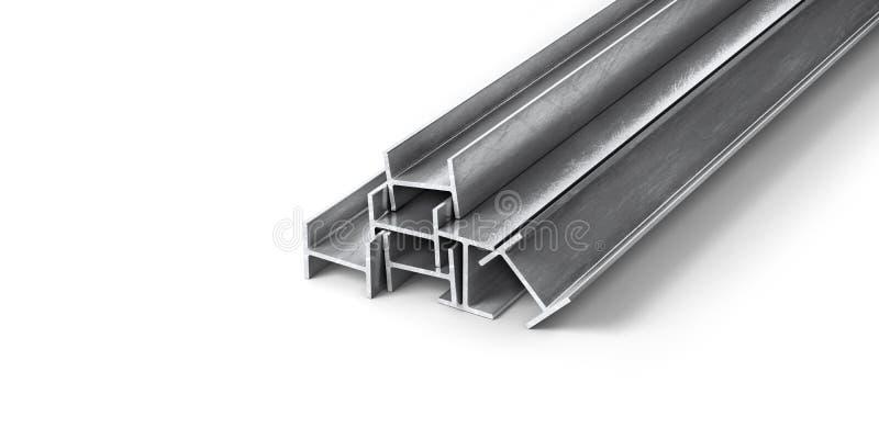 滚动的金属制品 钢外形和管 向量例证