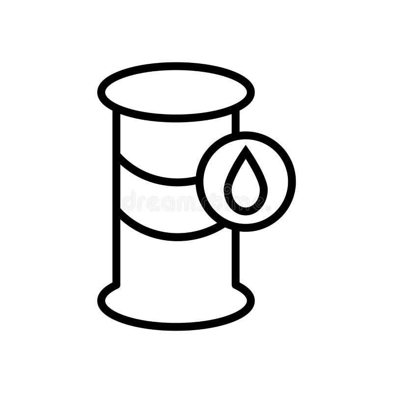 滚磨在白色背景隔绝的象传染媒介,桶标志 向量例证