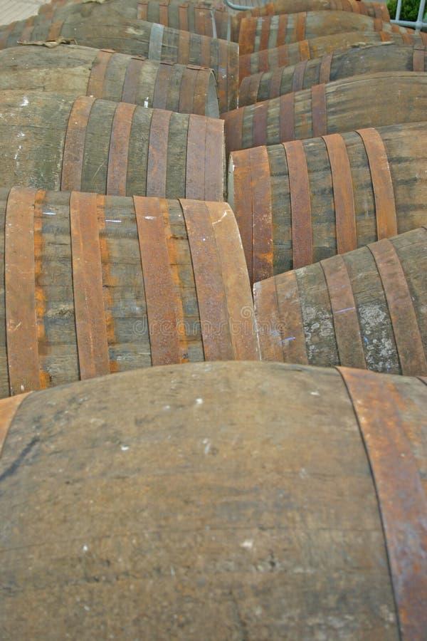 滚磨槽坊苏格兰英国威士忌酒 免版税图库摄影