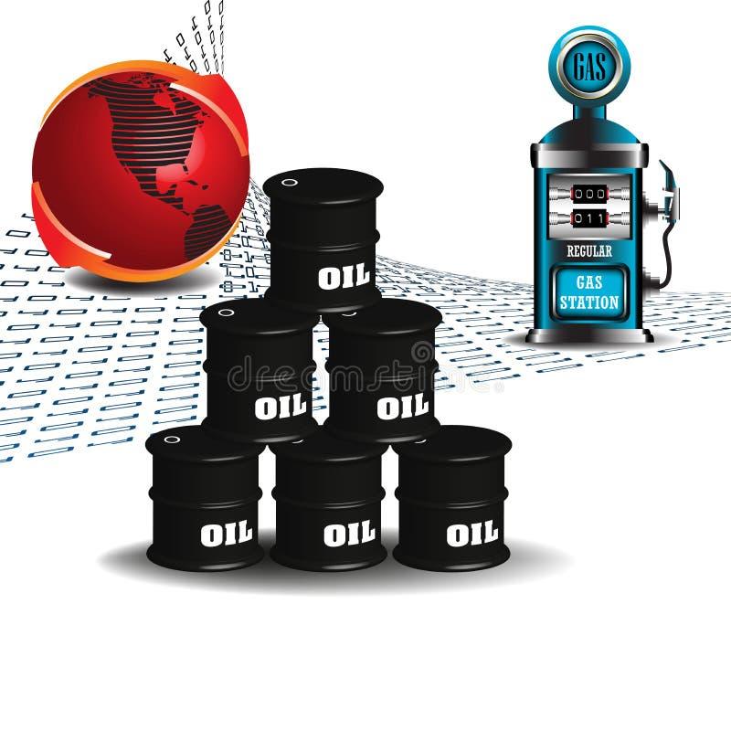 滚磨气油泵 向量例证