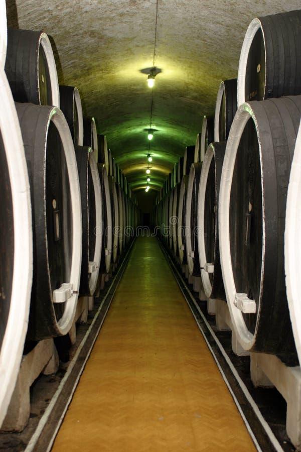 滚磨fermentaion酒 免版税库存照片