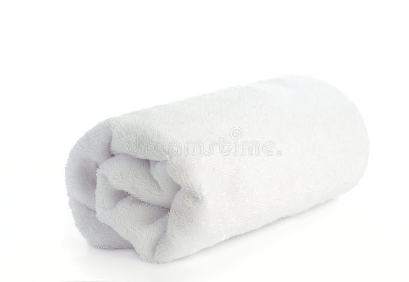 滚空白海滩毛巾 免版税库存图片