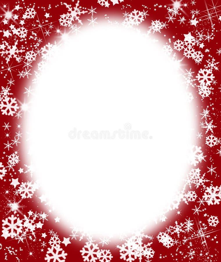 满天星斗圣诞节的框架 库存例证