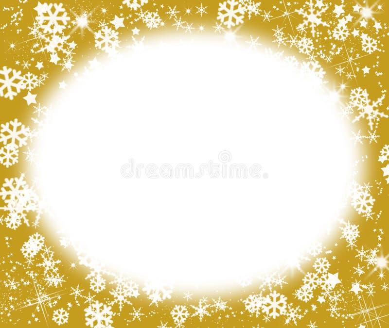 满天星斗圣诞节的框架 向量例证
