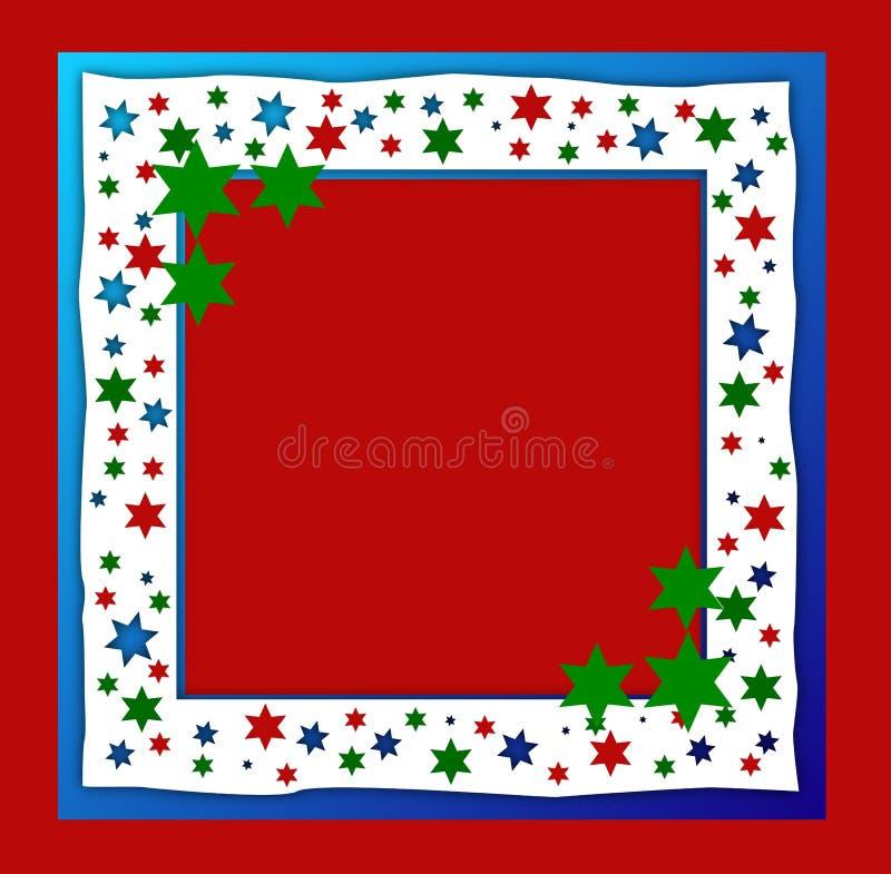 满天星斗圣诞节的框架 皇族释放例证