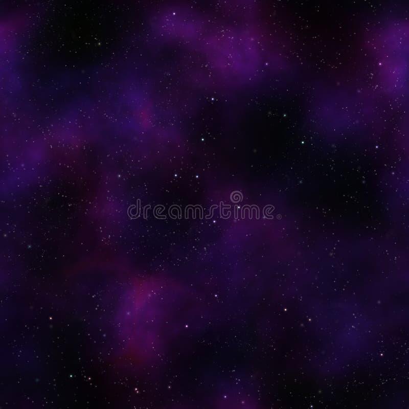 满天星斗晚上外面天空的空间 库存例证