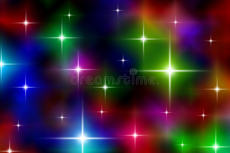 满天星斗欢乐的光 向量例证