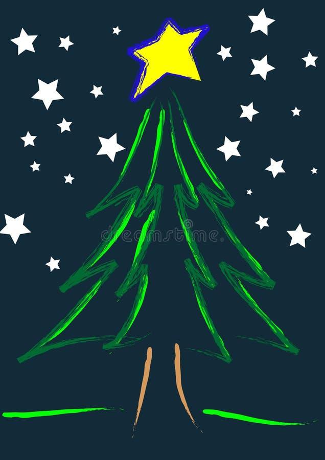满天星斗的圣诞夜 皇族释放例证