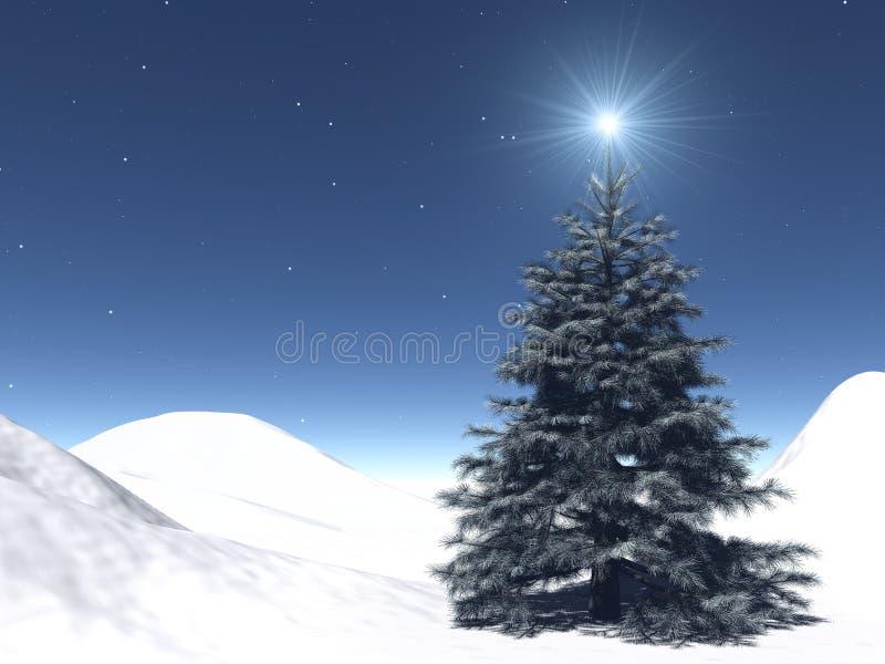 满天星斗的圣诞节 免版税库存图片
