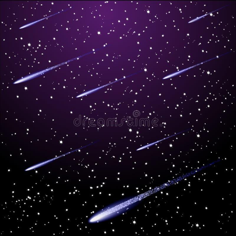 满天星斗的夜空 向量例证