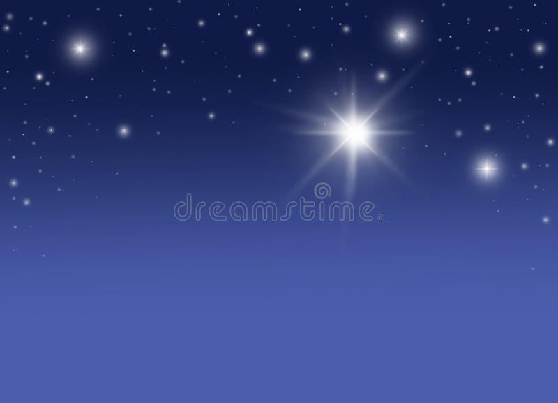 满天星斗的晚上 皇族释放例证