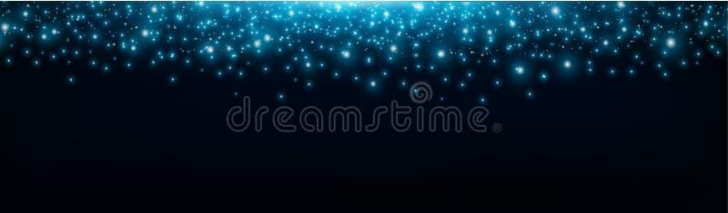 满天星斗的空间背景,明亮的流星,星系,美好的光线影响 闪闪发光发光光线影响,明亮的星,光 库存例证
