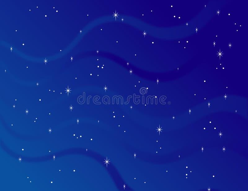 满天星斗的背景 库存照片