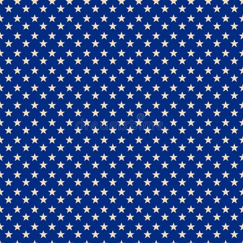 满天星斗的蓝色爱国样式印刷品 库存例证