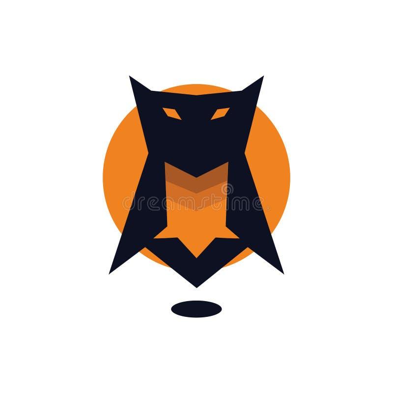 满月猫头鹰商标象 皇族释放例证
