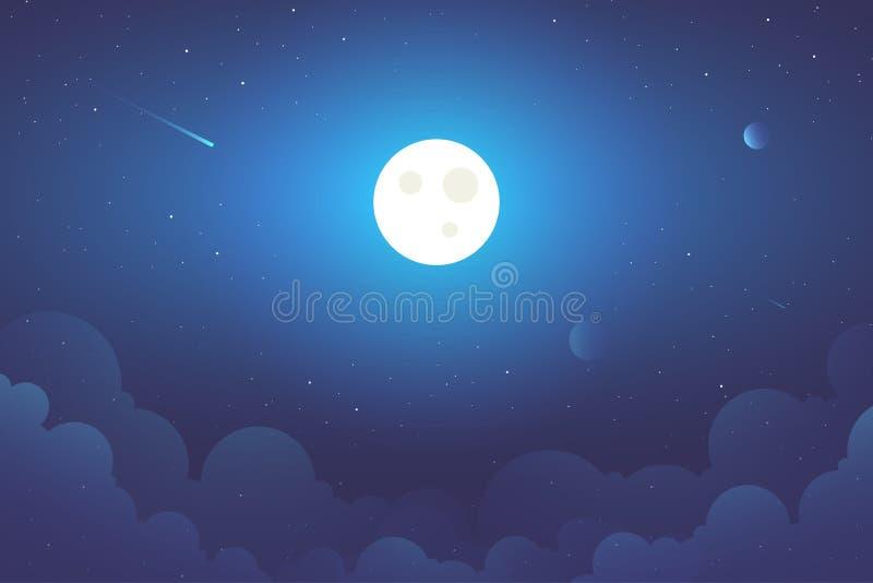 满月背景例证 免版税库存图片