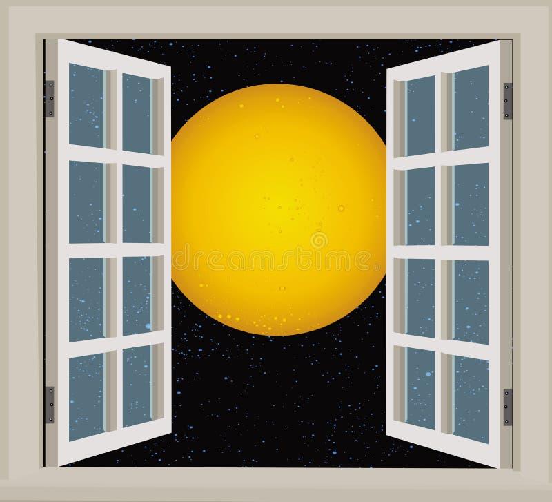 满月视图视窗 皇族释放例证