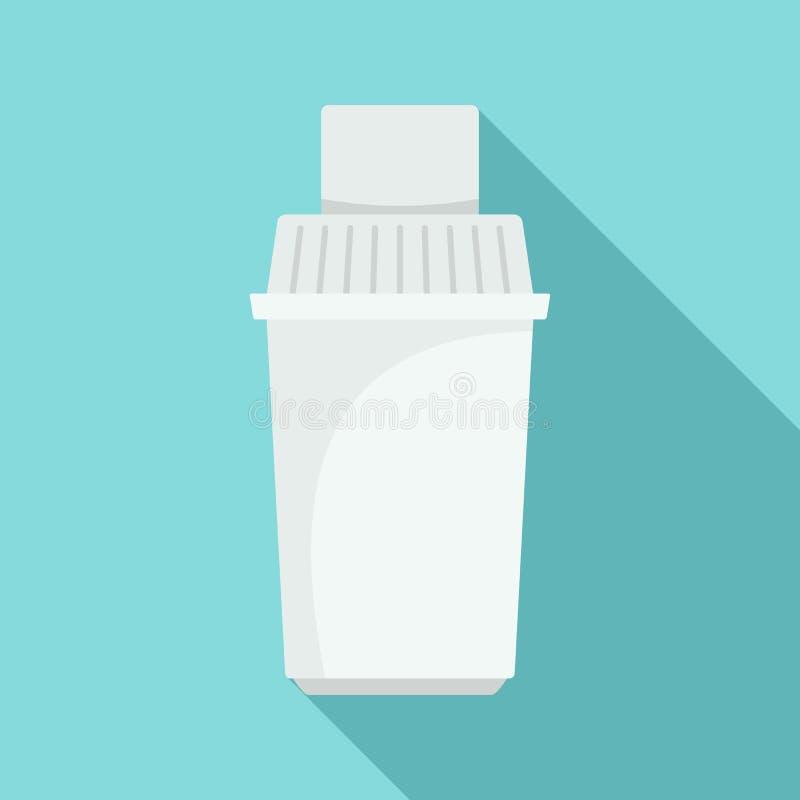 滤水器弹药筒象,平的样式 库存例证