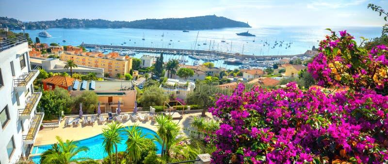 滨海自由城 法国里维埃拉,蔚蓝海岸,法国 免版税图库摄影