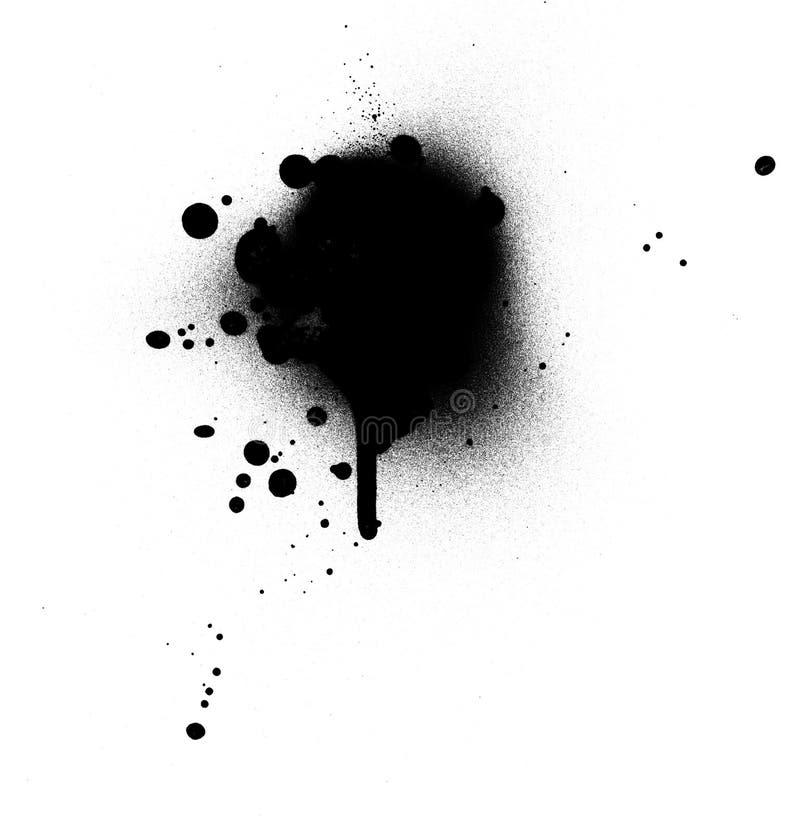 滴水油漆浪花 向量例证