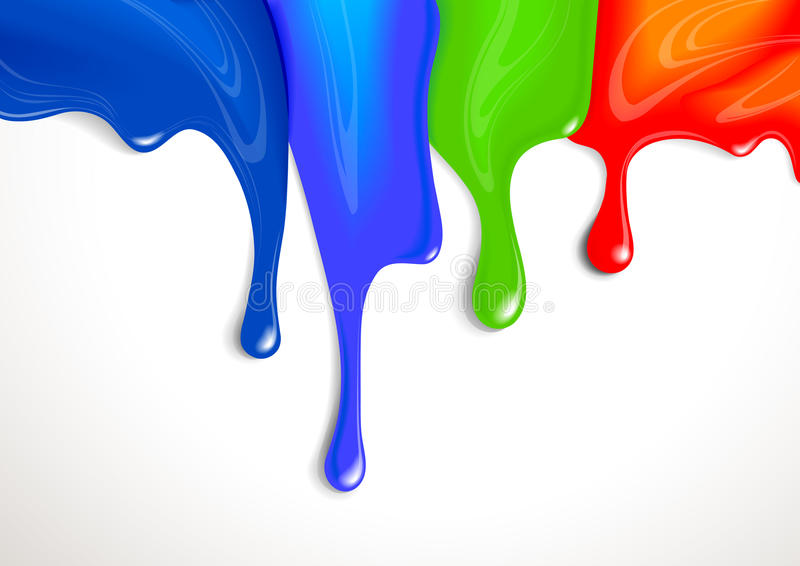 滴水油漆 向量例证