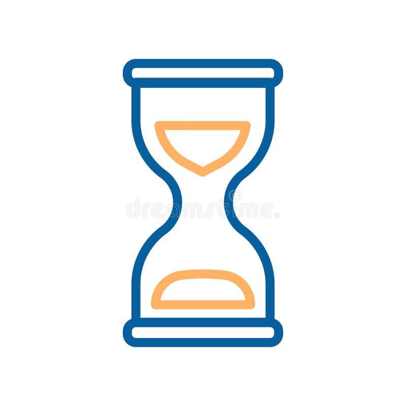 滴漏传染媒介象 时间的概念的例证 库存例证