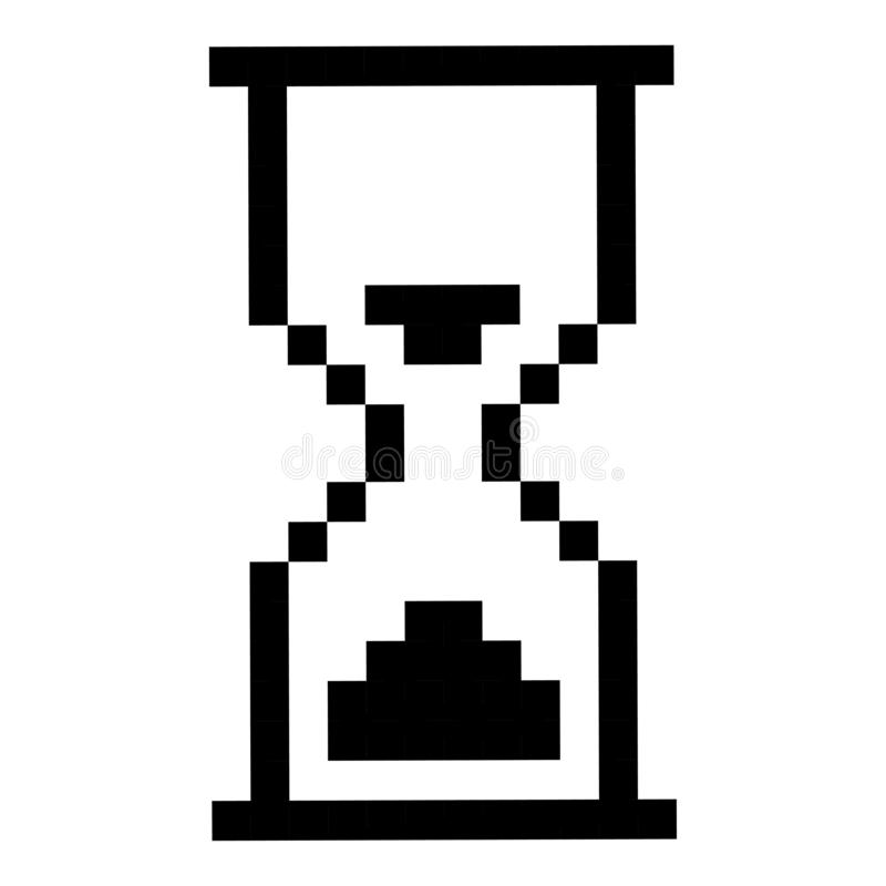 滴漏黑色象,管理的定时器 库存例证