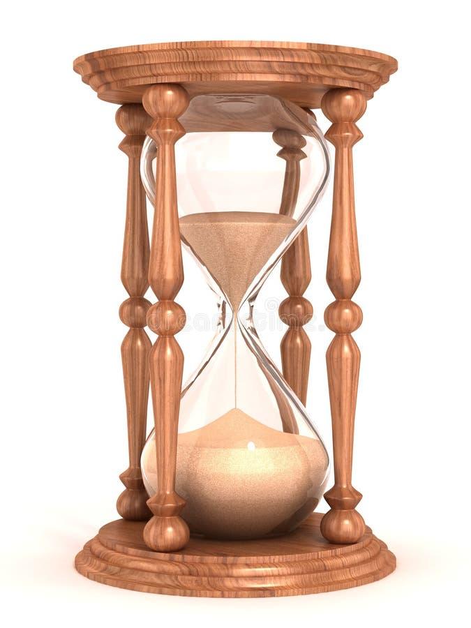 滴漏, sandglass,沙子定时器,沙子时钟 库存例证
