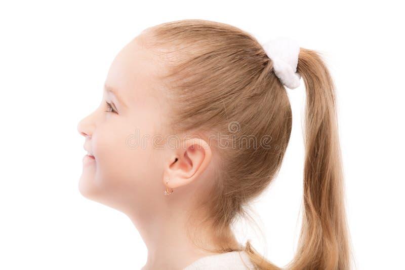 漂亮的孩子纵向幼稚园配置文件 免版税库存照片
