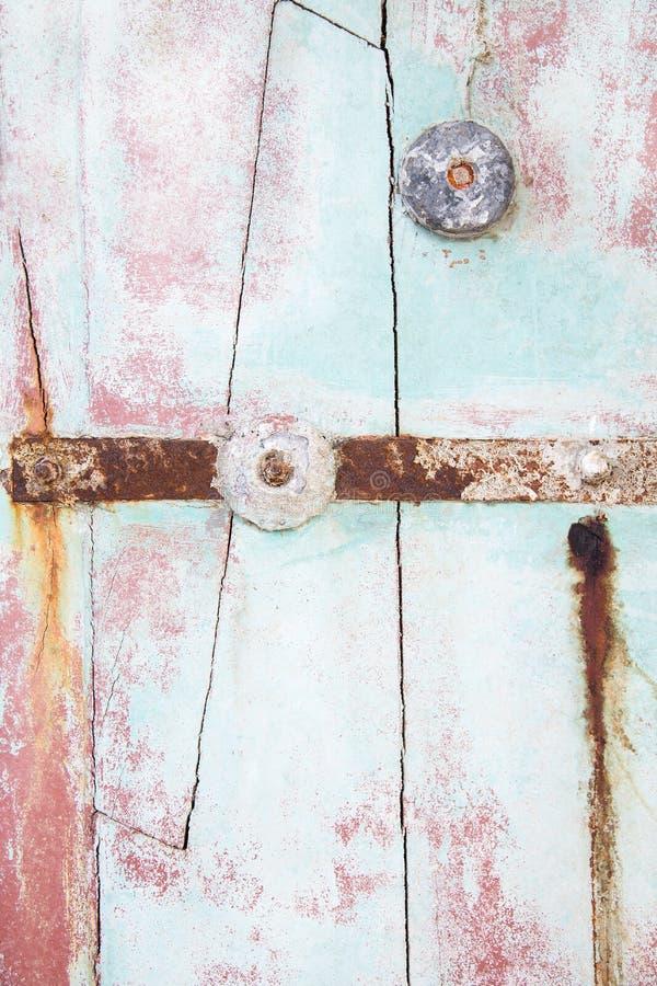 漂泊木头老木背景在淡色薄荷的绿色的 库存图片