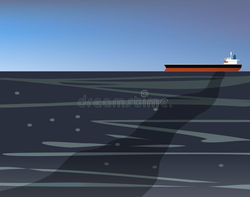 漏油船的原油 皇族释放例证