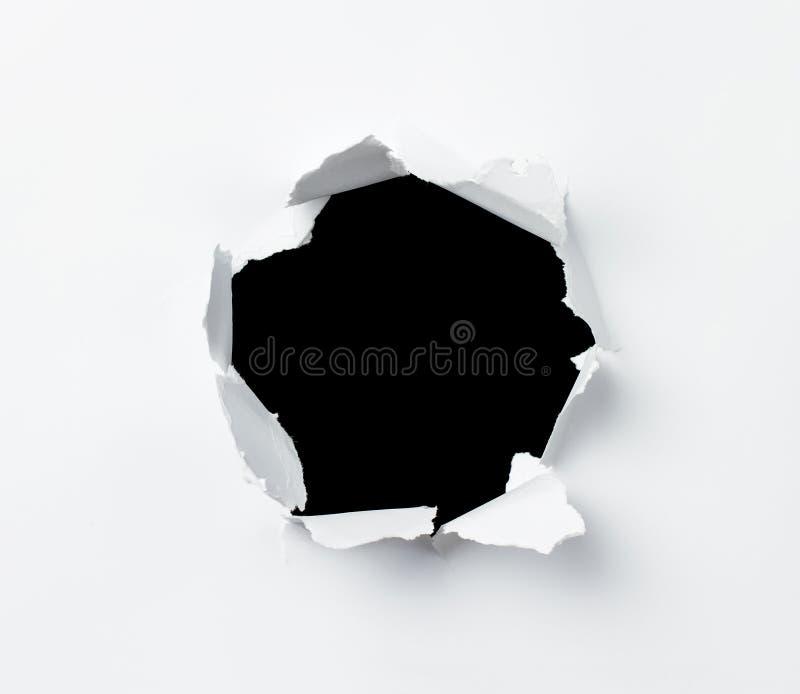 漏洞纸张 库存图片