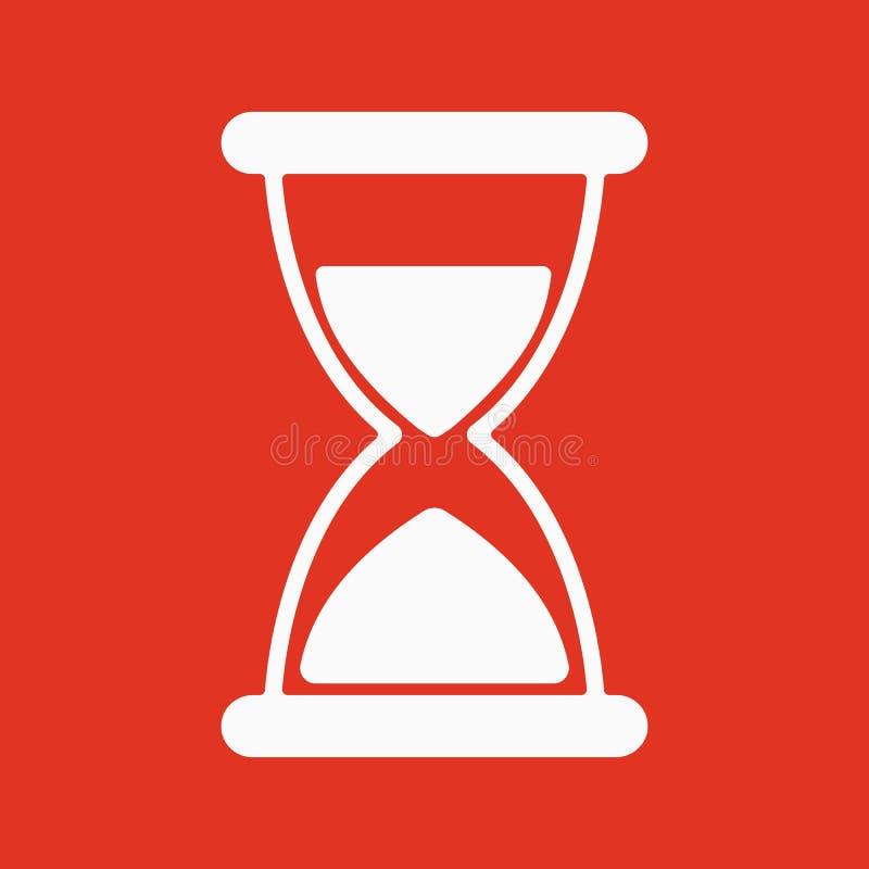 滴漏象 计时表和定时器,时钟标志 平面 向量例证