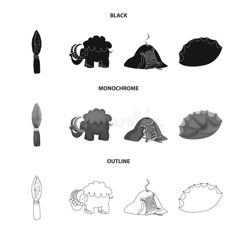 演变和史前史象的传染媒介例证 r 皇族释放例证