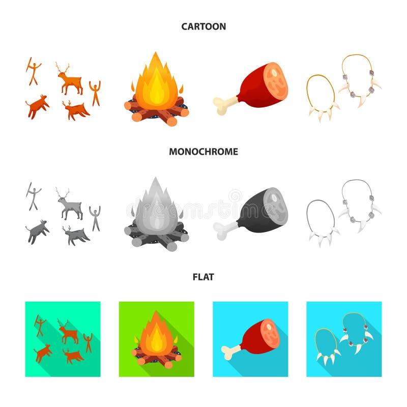 演变和新石器时代的商标被隔绝的对象  r 向量例证