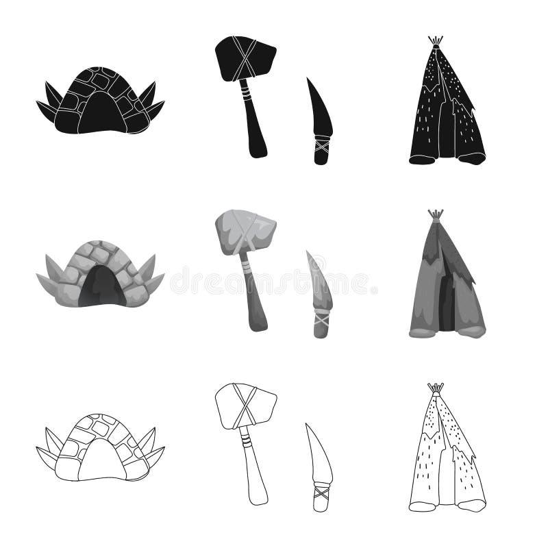 演变和新石器时代的象的传染媒介例证 r 向量例证