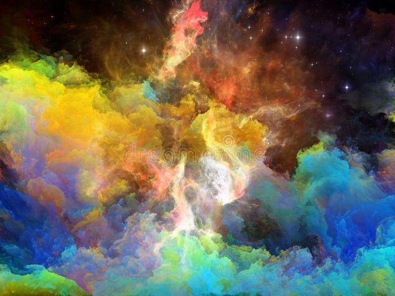 演变的空间星云 皇族释放例证
