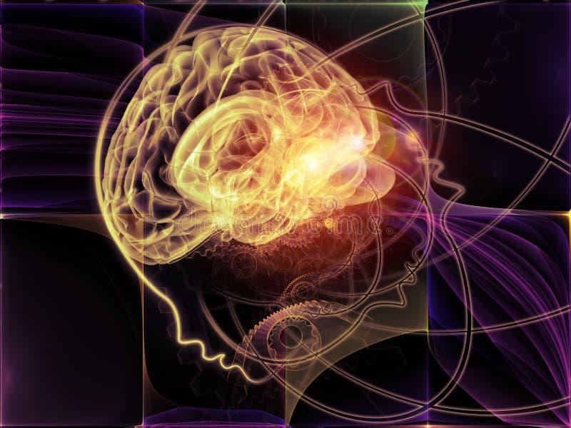 演变的头脑 皇族释放例证