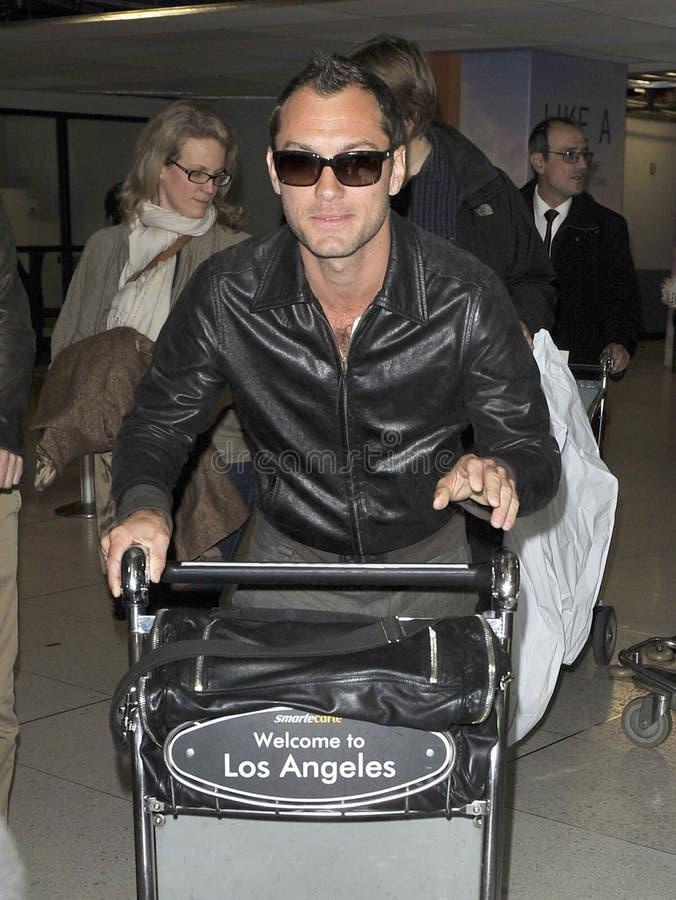演员机场茱迪被看见的法律松驰 库存照片