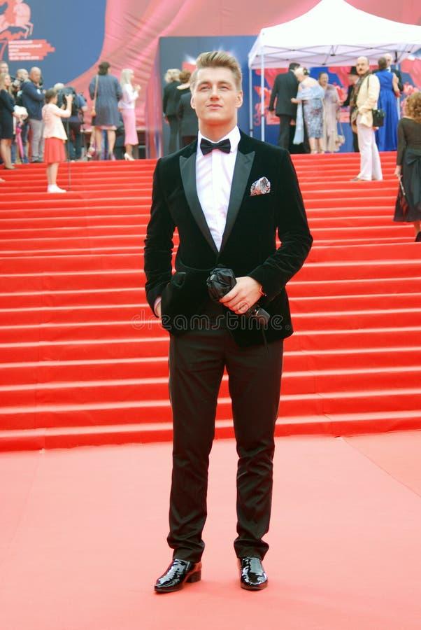 演员,歌手莫斯科电影节的Alexey沃罗比约夫 免版税库存照片