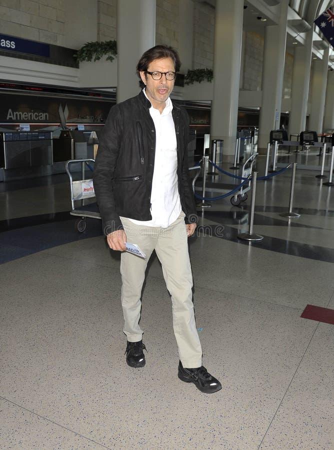 演员goldblum被看见的杰夫松驰 免版税库存图片