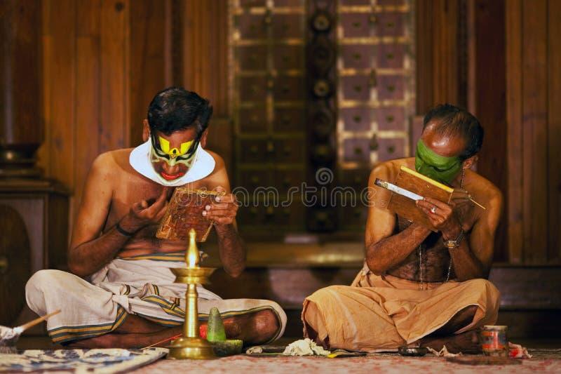 演员kathakali组成 库存照片