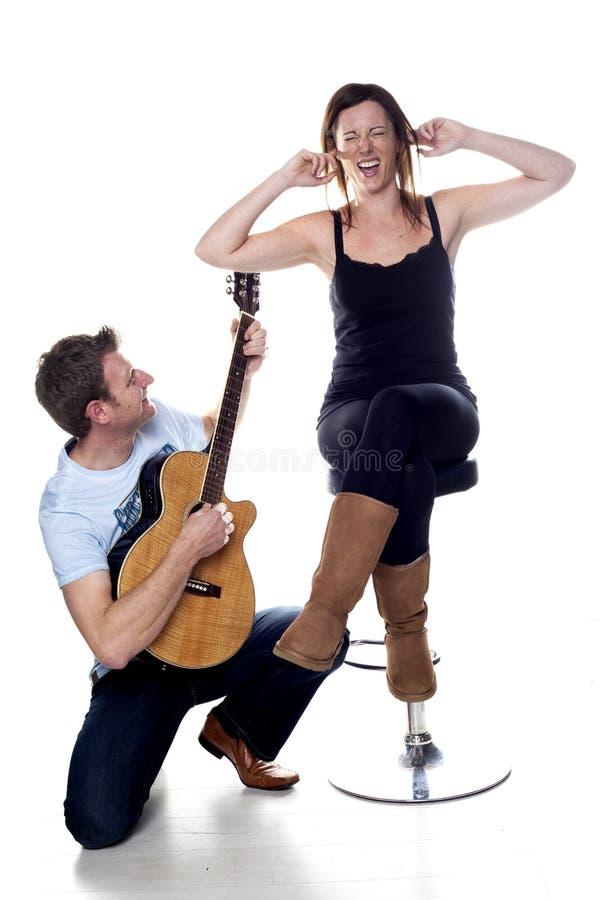 演唱的人。 免版税库存图片