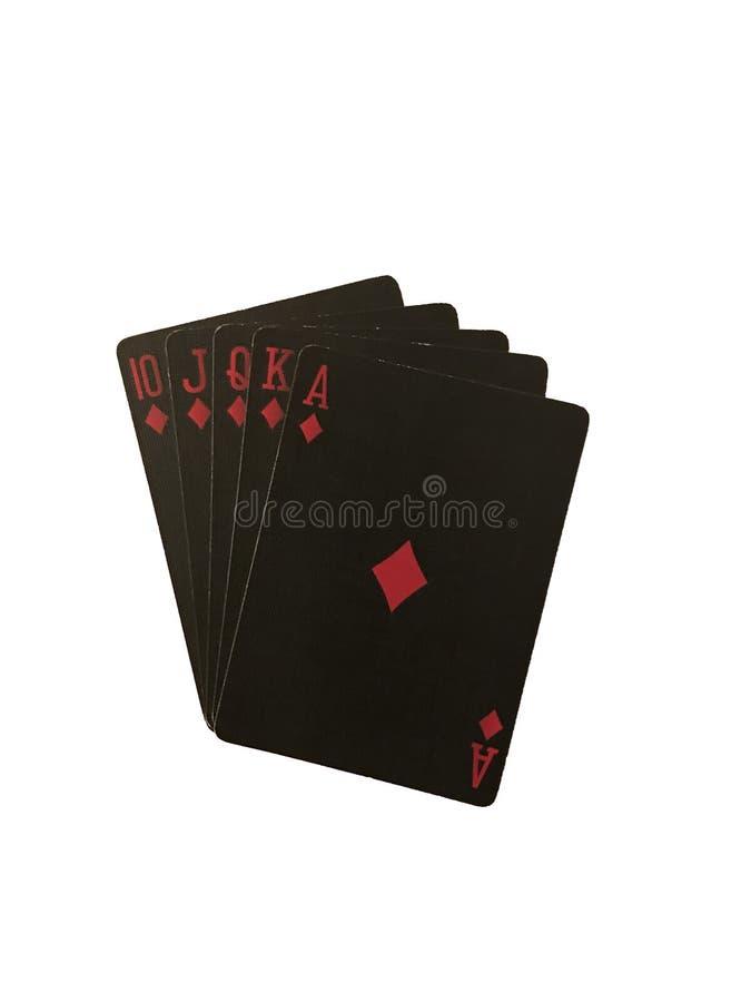 演奏与背景隔绝的黑卡片摄影 免版税库存图片
