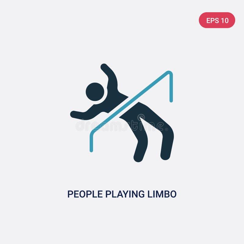演奏从消遣比赛概念的两种颜色的人民柔软传染媒介象 演奏柔软传染媒介标志标志的被隔绝的蓝色人民 皇族释放例证
