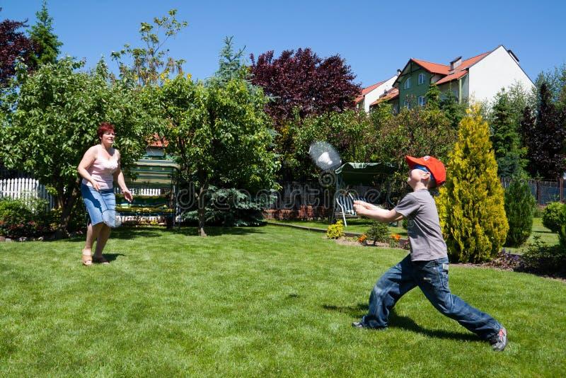 演奏体育运动的羽毛球系列 免版税库存照片